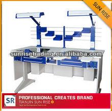 steel AX-JT6 double person laboratory dental workstation dental laboratory furniture