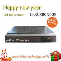 2013 dvb hd receptor satelital box cable tv lexuzbox F38 in stock