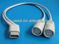 Drager/siemes hemomed ibp y- tipo adaptador de cable