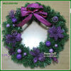 fashion artficial purple Christmas wreath artficial Christmas gifts