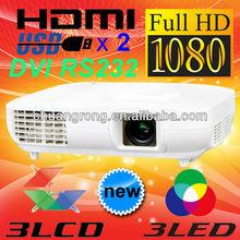 Noise 15DB 2000lumens Full HD 3LCD LED Video Projector 1920x1080
