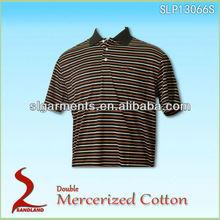Double Mercerized Cotton Men's New Design Polo Shirt 2013