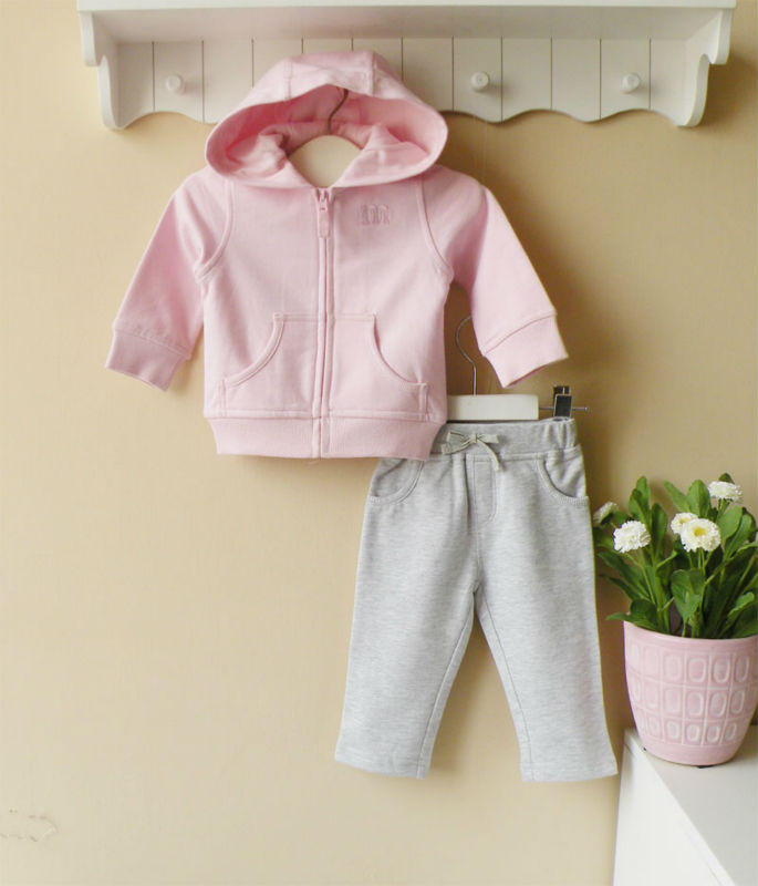 Mom and bab 100 cotton cute baby clothes baby suits baby hooded jacket suits view cute baby
