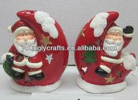 ceramic christmas ornaments santa claus craft