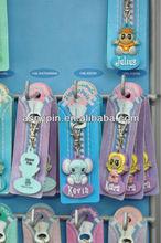 fancy cute character kids soft PVC zipper pals, HH zipper pals