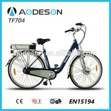 Aodeson city electric bike TF704A with 36V/10AH li-ion,single speed