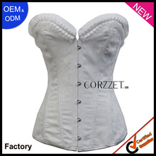2013 new arrival fashion overbust corset lingerie white