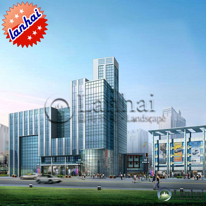3D Rendering Commercial Building Construction Design
