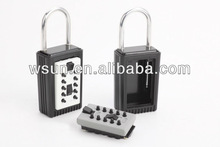 Digital push button lock box with hanger for outer door