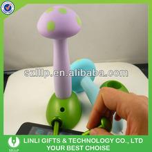 Plastic Mushroom Shape Stand Stylus Pens