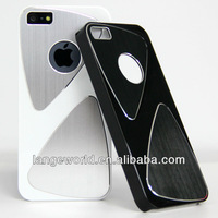 TRIXES Stylish Metal Aluminium Hard case Cover Silver for Iphone 5 5g 5S