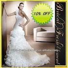Hot Sale Long Good Quality Organza One Shoulder Ruffled Sexy Elie Saab Wedding Dresses For Sale