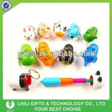 Novelty plastic animal retractable ball pen