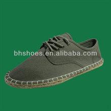 BHS094840 lace up men espadrille canvas shoes