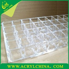 2015 Wholsale Holey Acrylic Cosmetic Organizer Case Makeup Container