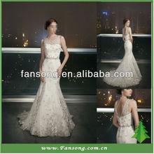 New Arrival Elegant Organza With Applique For a Woman Mermaid Wedding Dress
