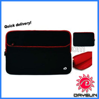 Red black 17 inch laptop sleeve case