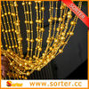 6mm round black plastic ball chains curtain for home decor