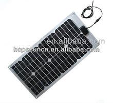 28 watt monocrystalline flexible photovoltaic solar panel