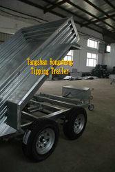 Tipping trailer / tandem truck trailer
