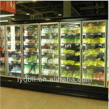 Glass Door display refrigerator, supermarket display freezer