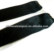 Popular Human Brazilian Hair Weave 22 inches Silk straight #1B