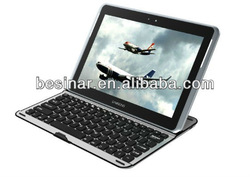Android Wireless Bluetooth Keyboard Aluminum Stand Case for Samsung Galaxy Note 10.1 2014 EDITION