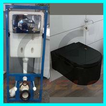 p trampa occidental de cerámica negro inodoro de plástico cisterna