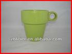ceramic coffee mug,glazed stackable mug