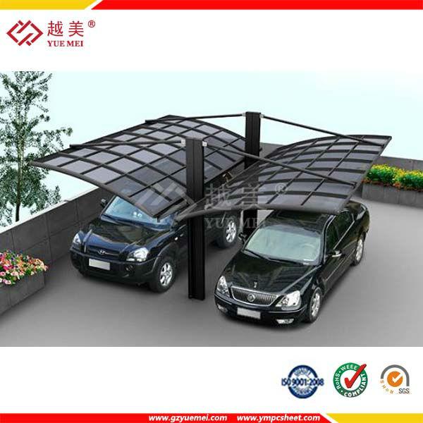 De pl stico de coches cochera garaje de policarbonato for Techos de policarbonato para garage
