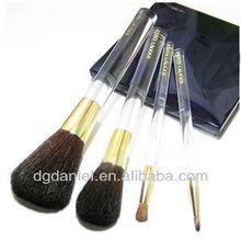 4pcs Professional Goat/Pony hair Makeup brush set,cosmetic brush set,2013 best professional makeup brush set