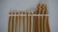 Wholesale 100% virgin remy brazilian p color Human Hair PU Skin Wefts