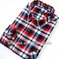 hombres cuello el último estilo barato comprobar camisa de franela 2014