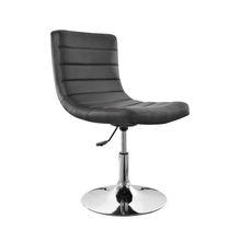 modern height adjustable swivel PU stripe-shaped bar chair