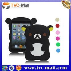 Custom Case For iPad Mini Rilakkuma Bear Rubberized Silicone Gel Case Cover