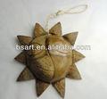 natural de coco pendurado artesanato