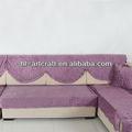 Compact quilting purple stone acolchoado capa para sofá