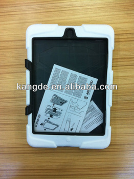 tablet rugged silicone case for ipad mini&customized shockproof