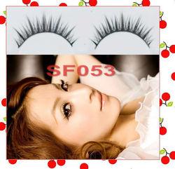 easy care natural fashion long false eyelashes eye lashes for fashion ladies