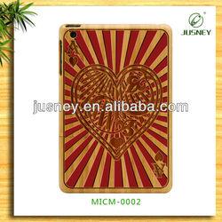 2013 hot sell original wood case bamboo case for ipad mini for mini ipad with custom design