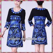 Short sleeve woman casual daily dress