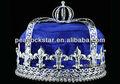 venta al por mayor de los hombres de terciopelo azulimperial deluxe medieval fleur de lis corona de rey ct1727