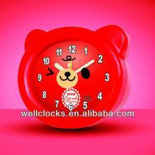cute bear plastic table alarm clcok