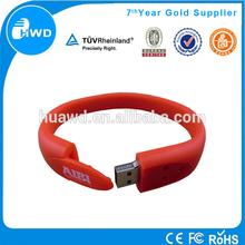 Promotional Gift Silicon Wristband Cheap Bracelet USB Flash Drive 8GB.