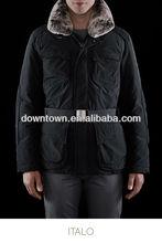 Man Black Belt Raccoon Fur Collar Down Jacket