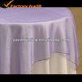 nylon barato escarpada del organza tela de la mesa para la decoración