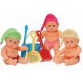Poupée de la Plage en Vinlye de 20CM pour les Bébés, Poupée de l'Eté avec l'ensemble des jouets de la plage