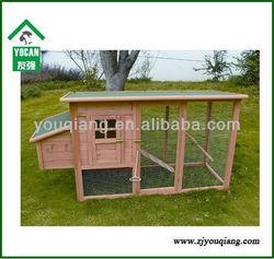 wooden industrial chicken coop with run
