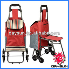 Stair Climbing Rolling Folding Shopping Grocery Laundry Utility Cart bag