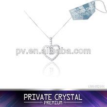 silver accessories for women neck made with Swarovski Zirconia